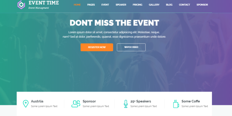 10+ Best Event Themes WordPress 2016 - CorpThemes