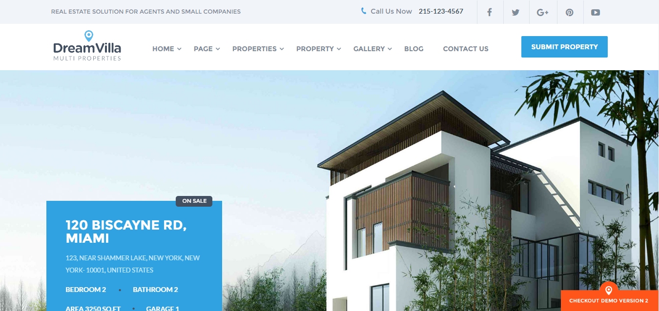 dreamvilla theme - real estate wordpress theme - health wordpress theme - medical wordpress theme - medicare wordpress theme
