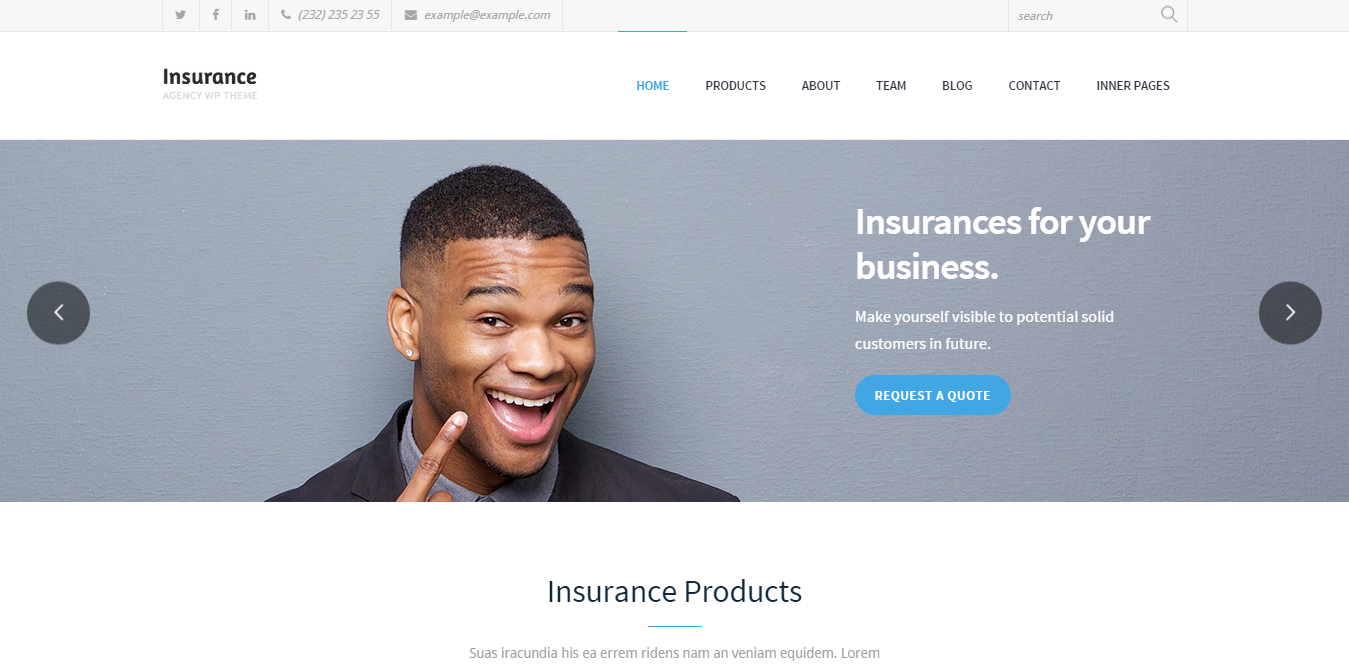 insurance agency wordpress theme - medical wordpress theme - health wordpress theme