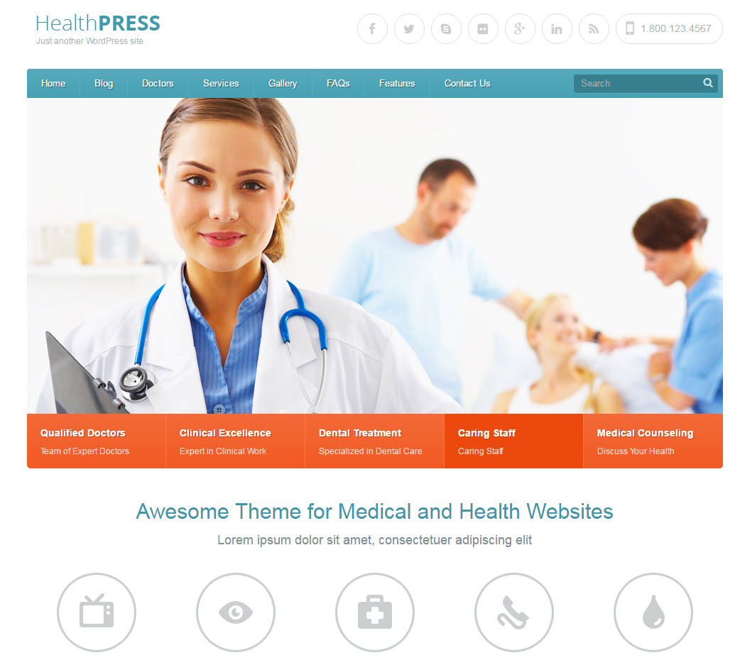 healhmedicare wordpress theme - medicare wordpress theme - heath wordpress theme - theme for medical - theme for dentist