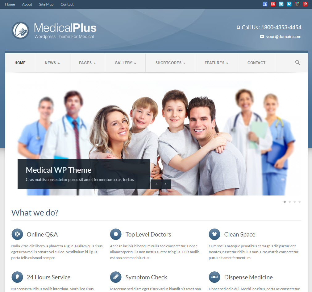 medical plus wordpress theme - medicare wordpress theme - heath wordpress theme - theme for medical - theme for dentist
