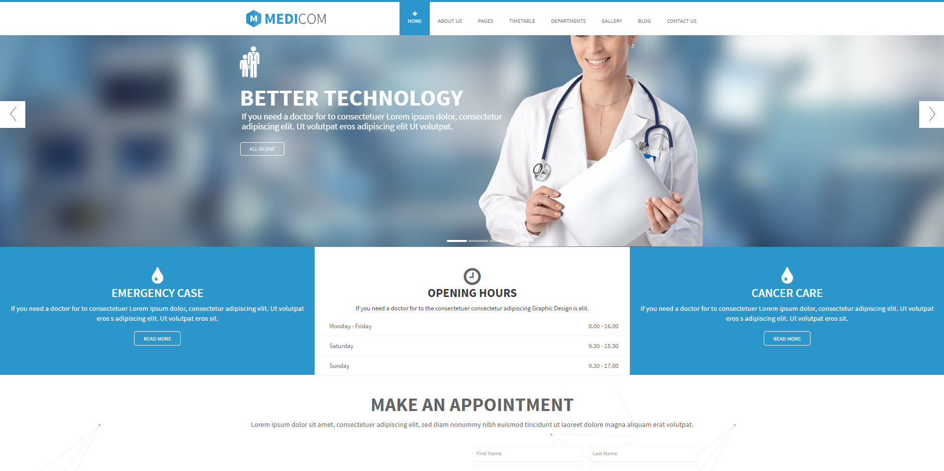 medical wordpress theme - medicare wordpress theme - heath wordpress theme - theme for medical - theme for dentist