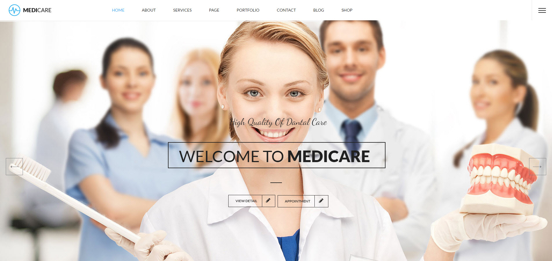 medicare wordpress theme - heath wordpress theme - theme for medical - theme for dentist