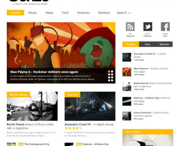 feature magazine wordpress theme - medicare wordpress theme, finance wordpress theme
