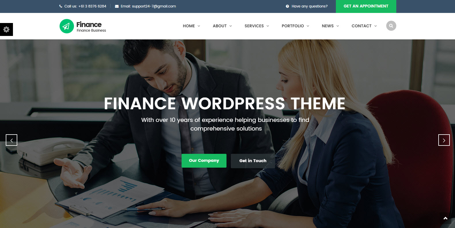 finance wordpress theme - consulting wordpress theme - marketing wordpress theme free
