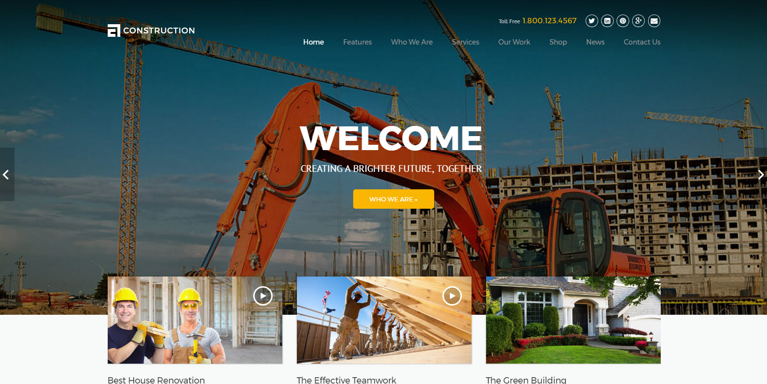best construction building wordpress theme - theme construction wordpress - finance wordpress theme