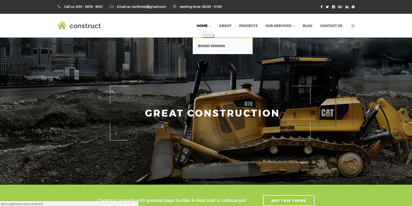 construction architechture wordpress theme - theme construction wordpress - finance wordpress theme