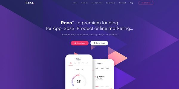 Rano – Landing Page HTML Template